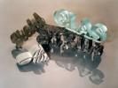 Schriftzuege aus Stahl Aluminium Granit und Glas ::