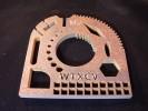 Stahlteil 10 mm groß mit Beschriftung ::